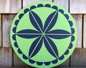 Pennsylvania Dutch Rosette Wheel Hex Sign 2