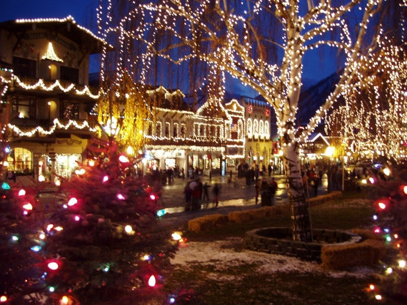 Leavenworth Christmas Lights.Christmas Lights Christmas Card Town Of Leavenworth Washington Christmas Lights Ceremony