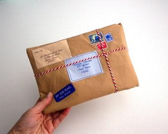 iPad Mini Sleeve -Vintage envelop parcel iPad mini Case - iPad cover