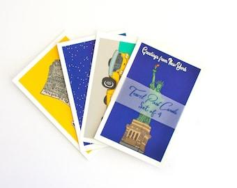 New York city post card set,  travel post cards, New York prints