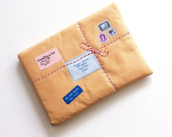 iPad Pro Sleeve -Vintage mail parcel iPad Case - iPad Air cover