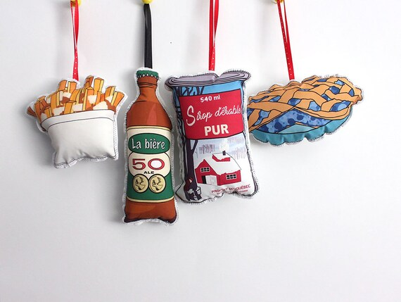 Etsy Christmas Ornaments.Christmas Ornaments Quebec Themed Canadian Ornament Set