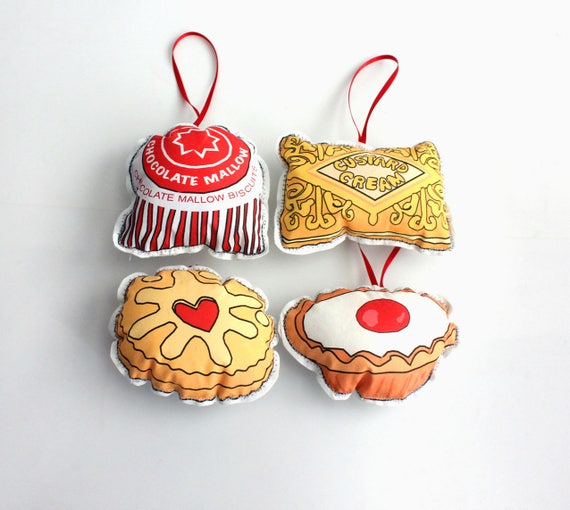 British Biscuits Christmas Ornaments Cookies Tree Etsy