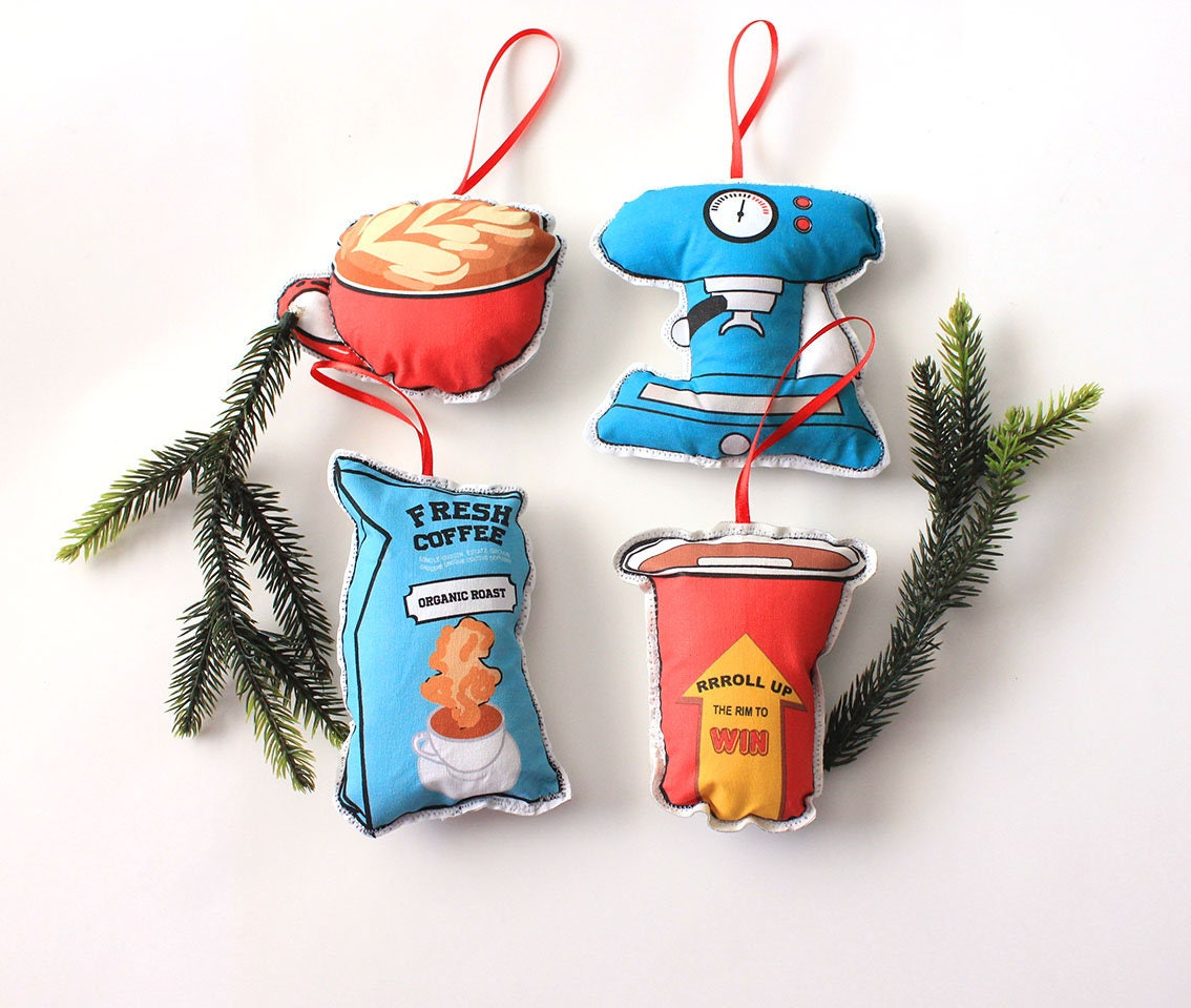 Food Themed Christmas Ornaments Etsy | Kitchn
