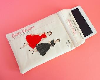 iPad sleeve -Vintage fashion pattern iPad Case - iPad pro cover