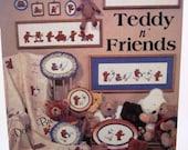 Vintage Cross Stitch Pattern Book  Teddy and Friends -  by Dale Burdett -1984