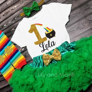 Patrick/'s Day birthday girl outfit,Birthday Girls Outfit St St.Patty/'s smash cake outfit first birthday outfit,St Patrick/'s day birthday