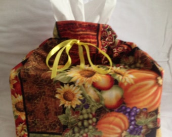 Sunflower - Tissue Cover - Cotton - Home Decor - Furnishings - Accesories - Sunflower Decor - Novelty - Sunflower Tissue Box Cover Case