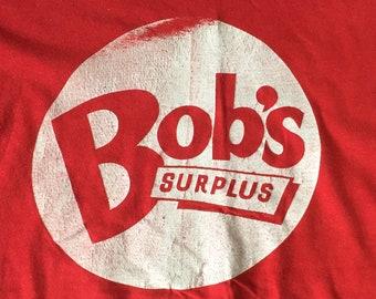 vintage 70's tee Bob's Surplus-great age, S-M