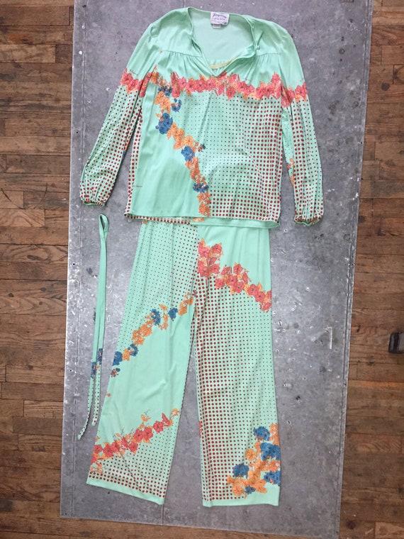 pantsset by Paganne-vintage 70's-size 8