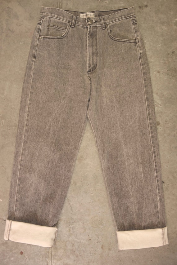 Calvin Klein Sport black faded jeans size 12, made in USA
