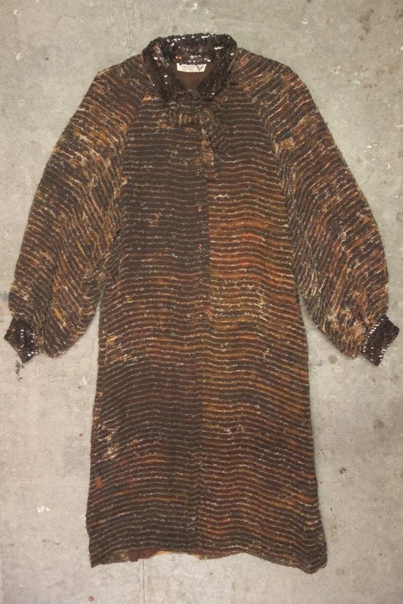 Valentino silk and sequin dress, classic 1980's el