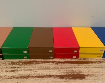 Montessori Grammar Filing Boxes Nienhuis International Wood Boxes