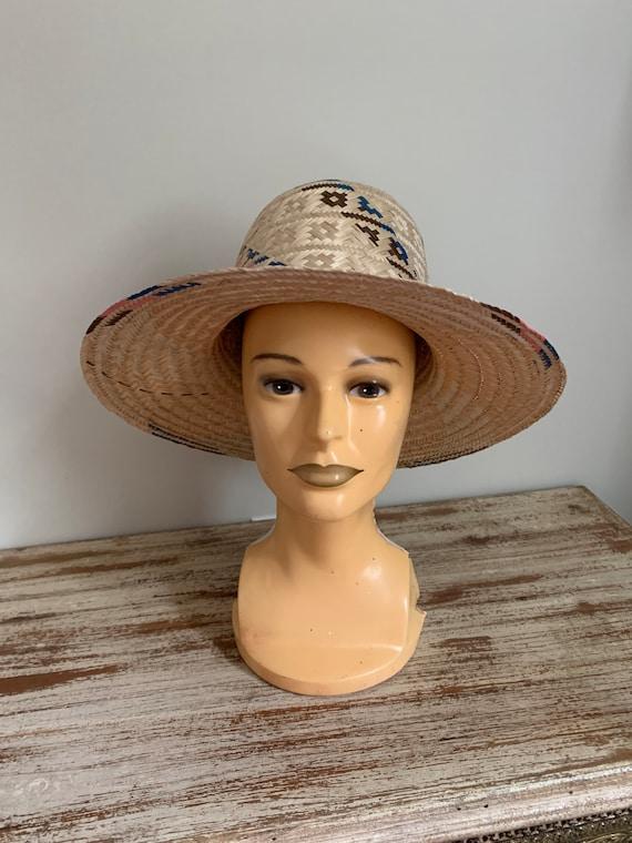 Vintage Straw Hat Columbian Cottagecore - image 6