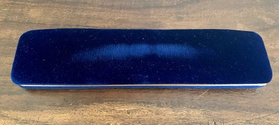 Antique Blue Velvet Bracelet Box Keepsake Box Hom… - image 3