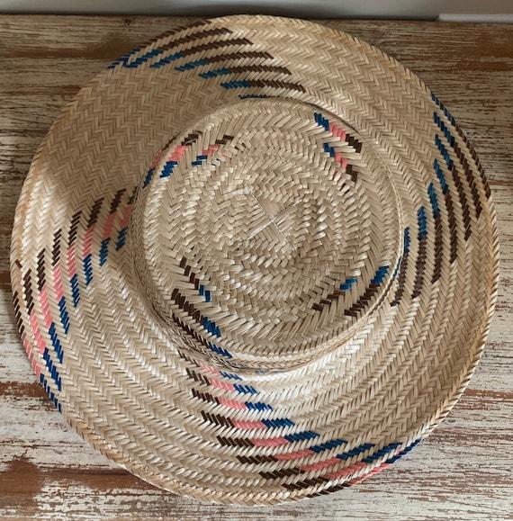 Vintage Straw Hat Columbian Cottagecore - image 5
