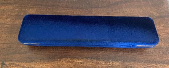 Antique Blue Velvet Bracelet Box Keepsake Box Hom… - image 4