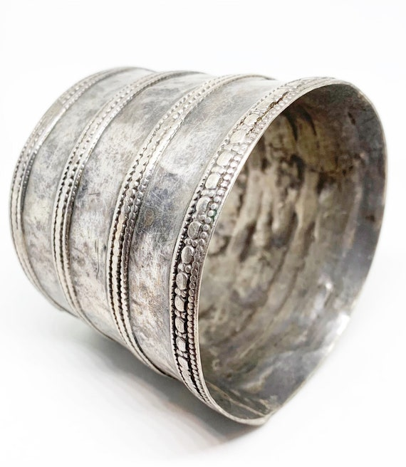 Antique Tribal Silver Upper Arm Cuff Bracelet Raja