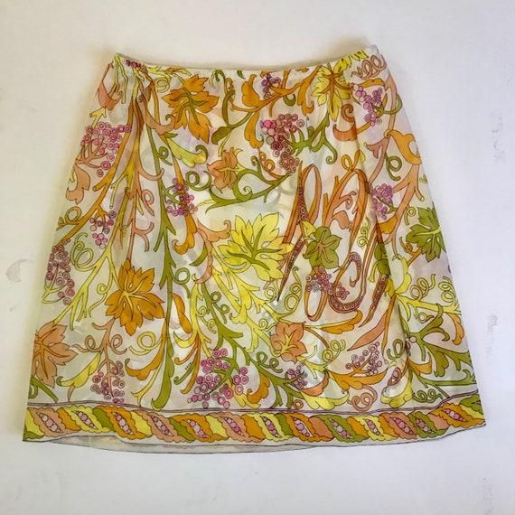 Vintage Emilio Pucci epfr floral slip skirt