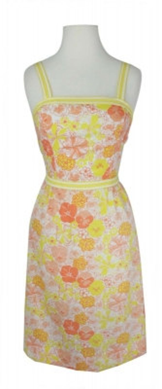 Vintage Lilly Pulitzer 1960s Yellow & Orange Flora