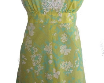 Vintage Lilly Pulitzer Yellow Sundress with Butterfly Applique