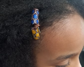 African glass beads comb for natural afro hair