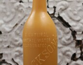 """Beeswax Candle - antique bottle shaped - """"JACKSON'S SODA WATER"""" - by Pollen Arts - Lg."""