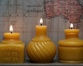 Beeswax Candle Collection - Inkwell Trio - Late 1800's