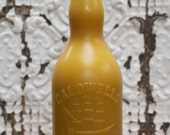 """Beeswax Candle - antique bottle shaped - XXL. """"Sailor's Rum w/ Ship"""" - by Pollen Arts"""