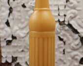 """Beeswax Candle - antique bottle shaped - """"50's SODA POP"""" - by Pollen Arts - Lg."""