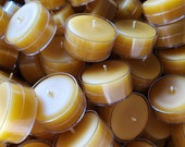 5  -  Pure 100 % Clear Plastic Beeswax Tea Lights - Buy 5 get one Free
