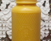 """XXL Beeswax Candle - antique bottle shaped -  """"Old Judge Coffee full-Quart Mason Jar w/ Owl and Harlequin"""" - by Pollen Arts"""