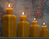 """Beeswax Candle Collection - """"Four Poisons"""" w/ FREE Mini - 1800's Glass"""