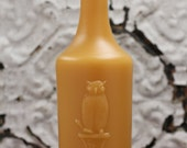 """Beeswax Candle - antique bottle shaped - """"OWL DRUG CO."""" - by Pollen Arts - Lg."""