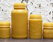 """Beeswax Candle - antique bottle shaped - XL. """"Mason Collection"""" - by Pollen Arts"""