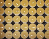 150 Beeswax Tea Lights -  ; ) NON-Parrifin Dipped & NON-metal cored Wicks ( 71 cents each )