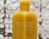 Beeswax Candle - Poison Bottle - Bottle/ Jar Shaped. 1900's Md.
