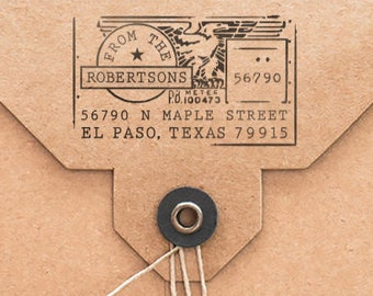 Home Address Stamp, Personalized Stamp, Family Address Stamp, USPS Meter, Eagle Stamp, Home Office Address Stamp, Airmail, Envelope Address