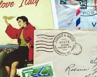 Self Inking Address Stamps, USPS Meter Design, Wedding Address Stamp, DIY Printing, Housewarming Gifts, Snail Mail, Wood Mounted Stamps