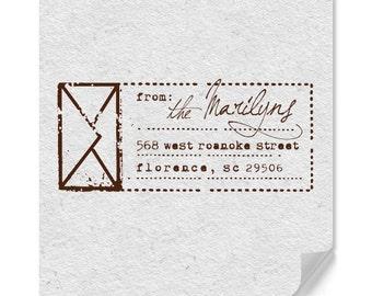 Envelope Return Address Stamp, Personalized, Custom Address Stamp, Housewarming Gifts, Personalized Gifts, Family Address Stamp, Home Office