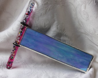 Blue Iridescent with Pink Wand Oil Scope