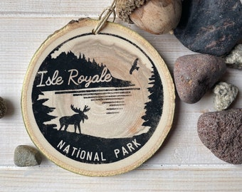 Isle Royale National Park Rustic Metal Sign Cabin Wall Decor 106180057030