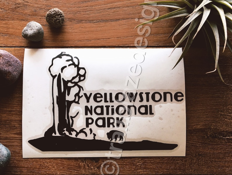 SELECT SIZE Yellowstone National Park Color Car Vinyl Sticker