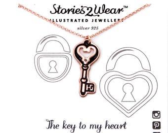 SALE 25% OFF! Silver Key Necklace/Key Pendant/Vintage Key Necklace/Key Charm/Locket Key//New Beginnings/Housewarming gift/Best Friend Gift/