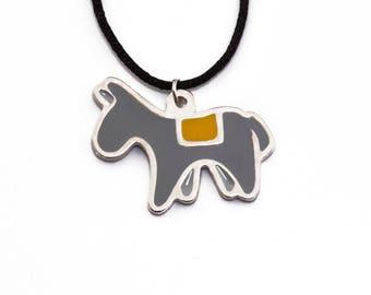 Santorini Donkey Necklace // Donkey pendant // Santorini Souvenir//Gift for her // Horse necklace // Greek Fashion // Animal Jewelry // Mule