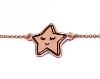 SALE 25% OFF! Lucky Star Bracelet /Silver Star Charm/Twinkle Little Star/Star Jewelry/Kawaii Bracelet/ Celestial Jewelry/Delicate/ Baby gift