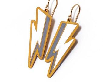 Zeus Thunder Earrings/Lightning Bolt Earrings/Ancient Greece Earrings/Bolt Earrings/Wonderwoman Earrings/Zeus Earrings/Greek Gods Jewelry