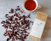 Hibiscus Flowers Organic Herbal Tea • 4 oz. Kraft Bag • Luxury Loose Leaf Herbal Infusion • Caffeine Free