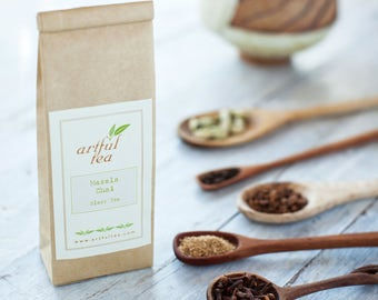 Masala Chai Black Tea • 4 oz. Kraft Bag • Loose Leaf Spiced Tea • Hand Blended w/ Cinnamon, Cardamom, Ginger & Cloves