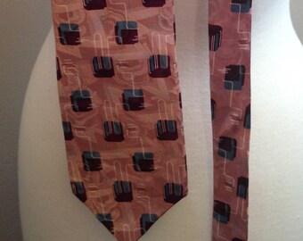 Vintage Necktie, Father's Day Gift, Je Suis Tie, Mid Century Tie, Atomic Tie, Retro Tie, Mid Century Design